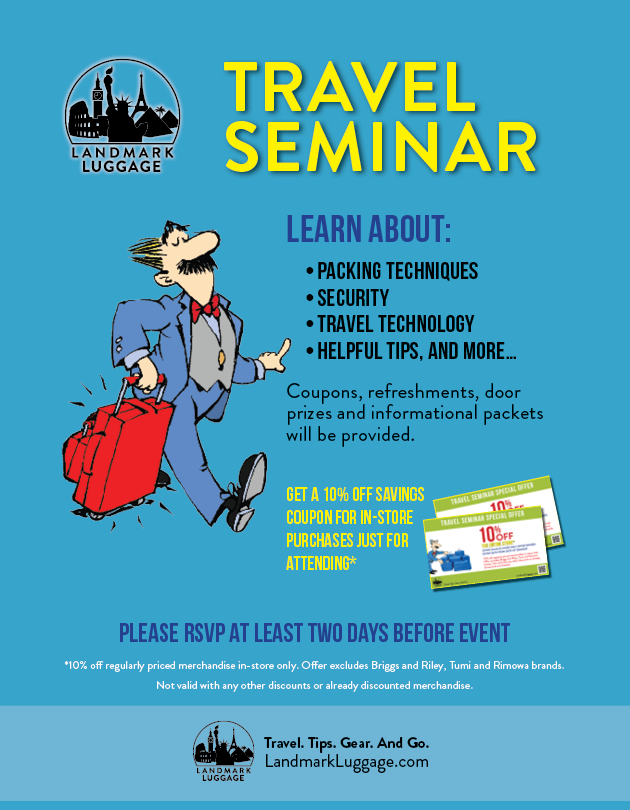 Landmark Luggage Travel Seminar