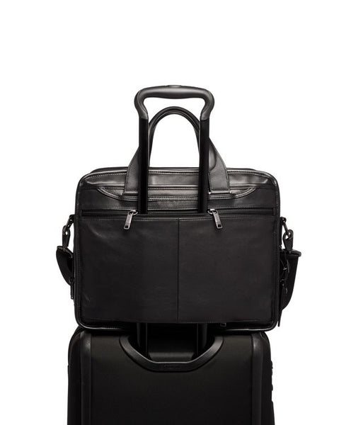 Tumi Alpha 3 Expandable Organizer Laptop Brief Leather