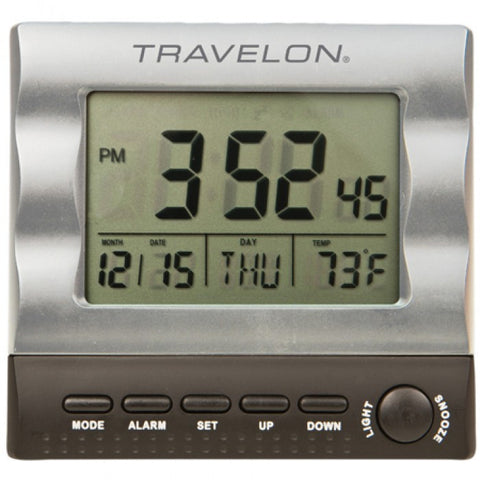 Travelon Large Display Travel Alarm Clock