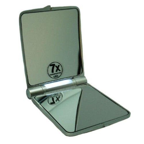 Passage-2 7X Lighted Folding Travel Mirror