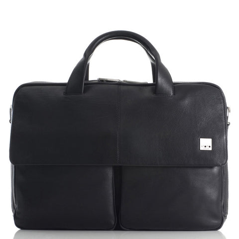 Knomo Warwick Leather Double-Zip Briefcase