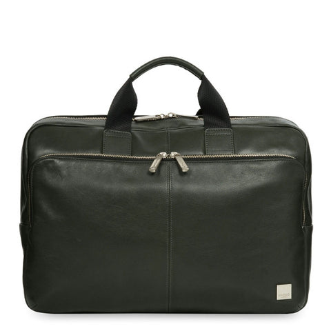 Knomo Newbury Leather Zip Briefcase 15''