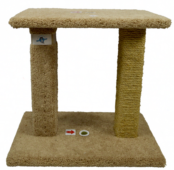 Kool Kitty Sisal & Carpet Pedestal