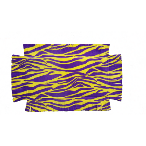 "Grandma ""T"" Catnip Infused Padded Fleece Blanket (Purple/Yellow Print)"