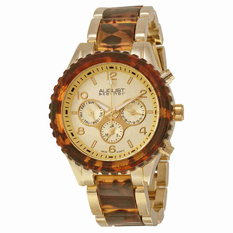 August Steiner Gold-Tone Ladies  Watch AS8093YG