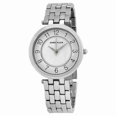 Anne Klein Easy Reader White Glossy Dial Ladies Watch 2701WTSV