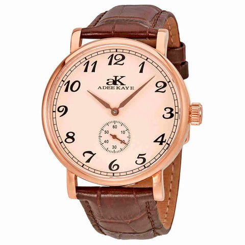 Adee Kaye Vintage Automatic Rose Dial Mens Watch AK9061-MRG-RG