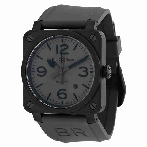 Bell and Ross Commando Automatic Grey Dial Mens Watch R0392-COMMANDOCE
