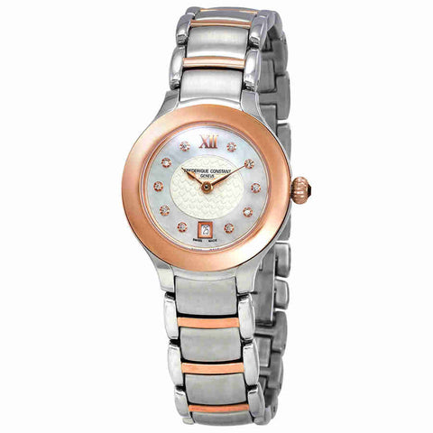 Frederique Constant Delight White Mother of Pearl Dial Ladies Watch FC-220WHD2ER2B
