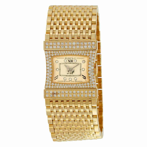 Bedat No. 33 Reverso 18K Yellow Gold Diamond Ladies Watch 338.333.809