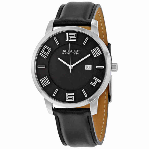August Steiner Black Mens Watch AS8108BKS