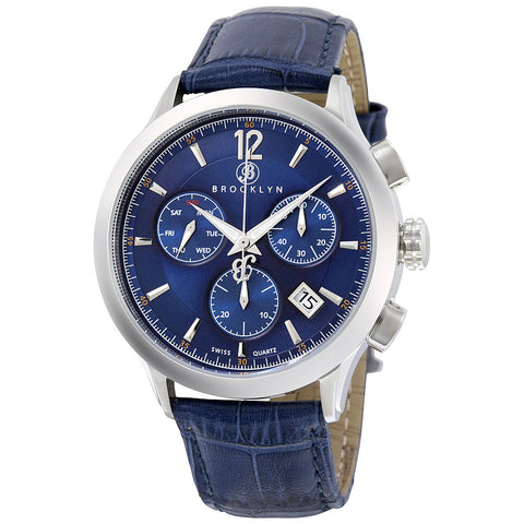 Brooklyn Dakota Swiss Quartz Chronograph Blue Dial Mens Watch