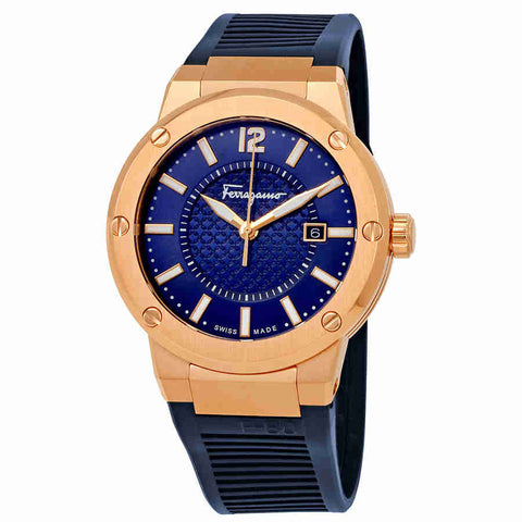 Ferragamo F-80 Navy Blue Dial Mens Watch FIF050015