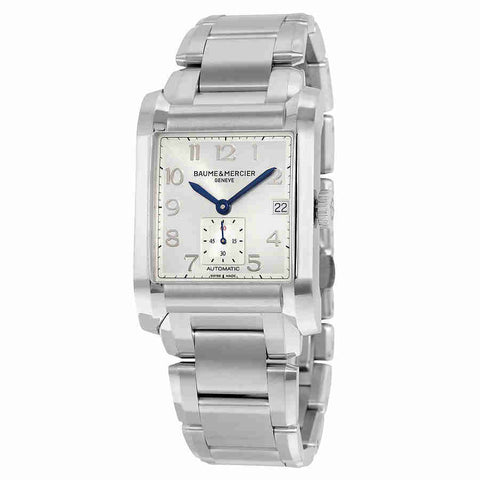 Baume and Mercier Hampton Automatic Silver Dial Mens Watch 10047