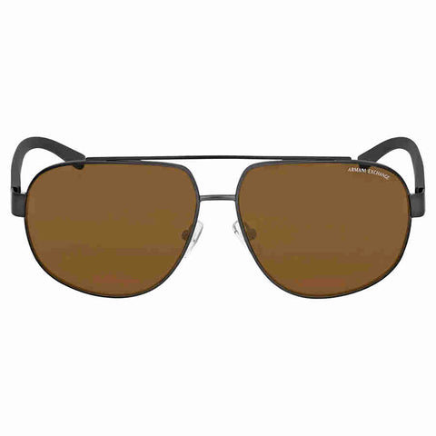 Armani Exchange Polarized Brown Aviator Sunglasses