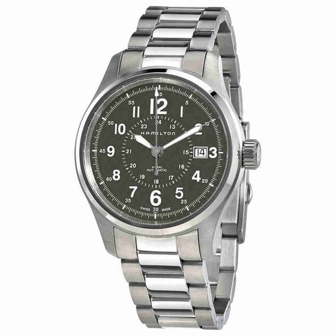 Hamilton Khaki Field Green Dial Stainless Steel Mens Watch H70595163