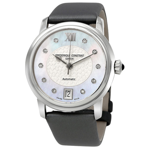 Frederique Constant Slimline Mother of Pearl Diamond Ladies Watch FC-303WHD2P6