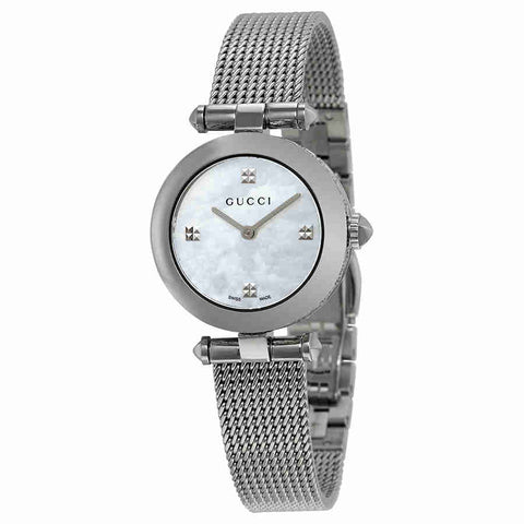 Gucci Diamantissima Mother of Pearl Dial Ladies Watch YA141504