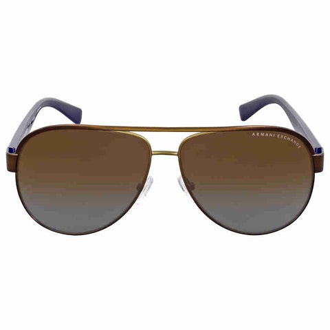 Armani Exchange Brown Gradient Aviator Sunglasses