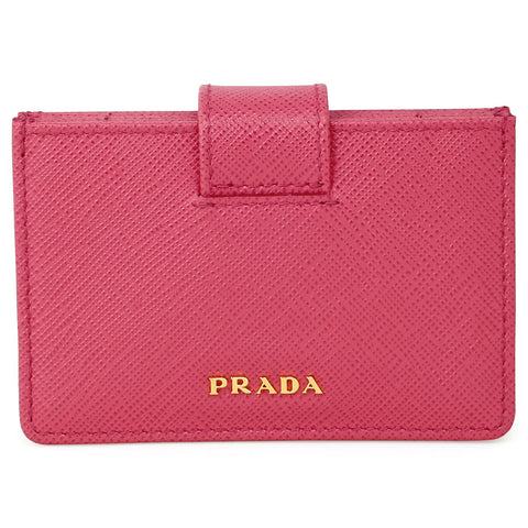 Prada Accordion Saffiano Leather Card Case - Peonia