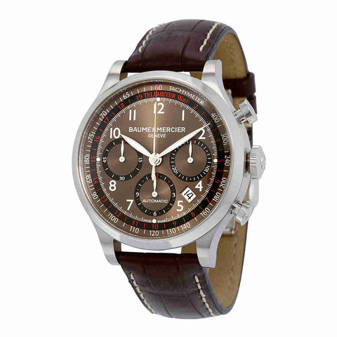 Baume and Mercier Capeland Chronograph Brown Dial Mens Watch 10083