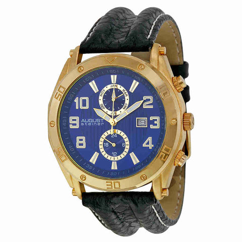 August Steiner Blue Mens Watch AS8117BU