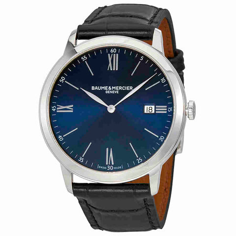 Baume et Mercier Classima Blue Dial Mens Watch MOA10324
