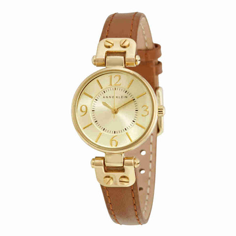 Anne Klein Gold Dial Ladies Watch 10-9442CHHY
