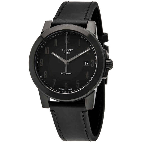 Tissot Gentleman Black Dial Mens Leather Watch T098.407.36.052.00