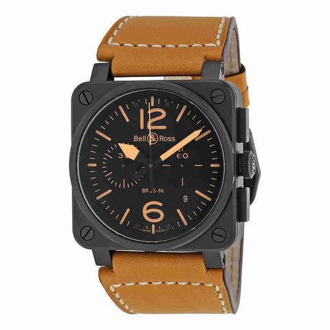 Bell and Ross Instrument Heritage Black Dial Chronograph Automatic 42MM Mens Watch BR-03-94-HERITAGE