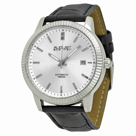August Steiner Automatic Silver Dial Silver-tone Mens Watch AS8025SS