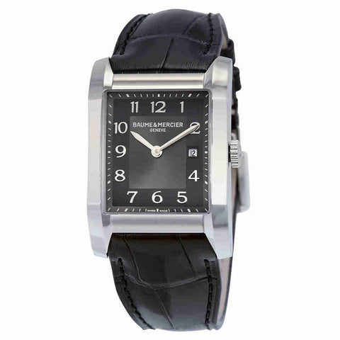 Baume and Mercier Black Dial Leather Strap Ladies Watch 10019