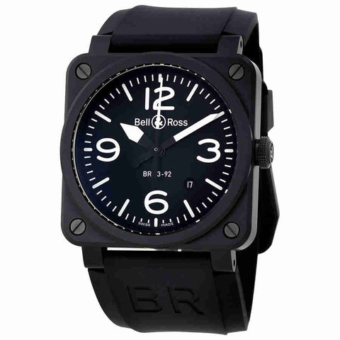 Bell and Ross Aviation Automatic Black Dial Mens Watch BR0392-BL-CE