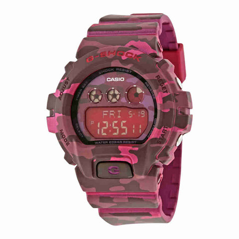 Casio G-Shock Digital Pink Camouflage Ladies Watch GMDS6900CF-4CR