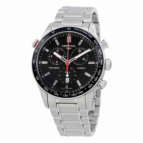 Certina DS-2 Chronograph Black Dial Mens Watch C0246181105101