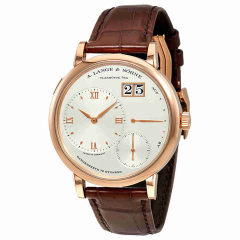 A. Lange and Sohne Grand Lange 1 Silver Dial Mens Watch 117.032