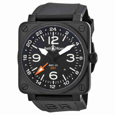 Bell and Ross Aviation GMT Automatic Black Dial 46MM Mens Watch BR-01-93-GMT