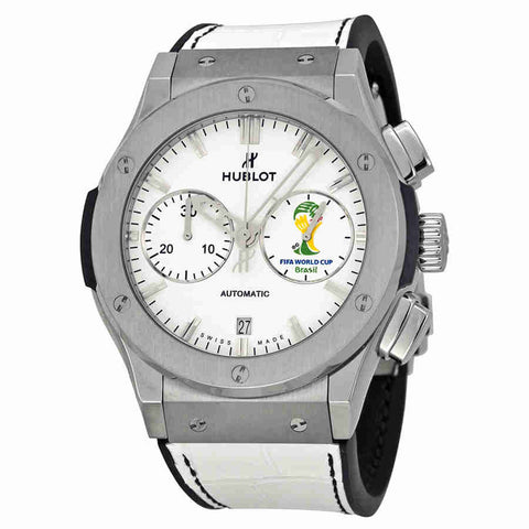 Hublot FIFA World Cup Brasil Automatic White Dial White Leather Mens Watch 521NX2010LRWCW14