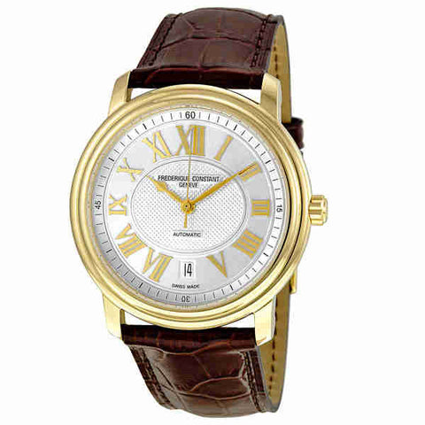 Frederique Constant Persuasion Automatic Silver Dial Gold-Plated Mens Watch 303NM4P5