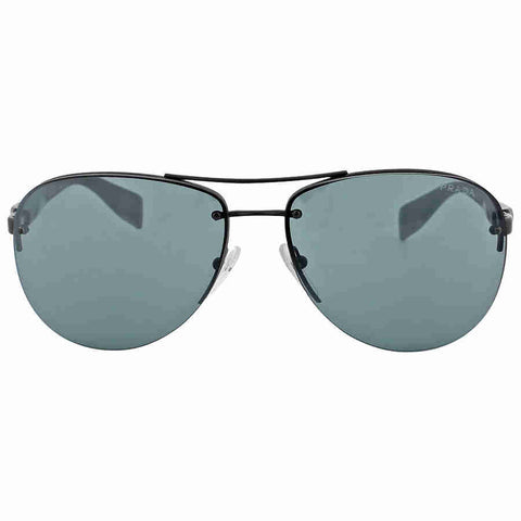 Prada Aviator Black Demi Shiny Sunglasses PS 56MS-1BO1A1-62