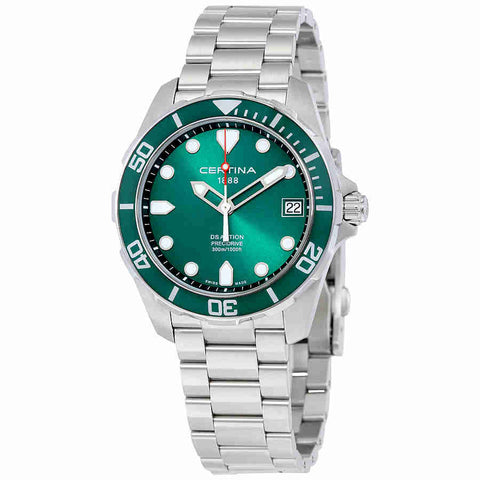 Certina DS Action Green Dial Mens Quartz Watch C0324101109100
