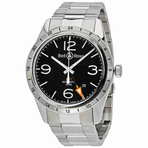 Bell and Ross Vintage GMT Automatic Mens Watch BRV123-BL-GMT/SST