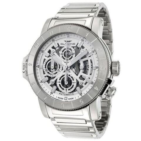 Glycine Airman Airfighter Skeleton Dial  Chronograph Automatic Mens Watch GL0051