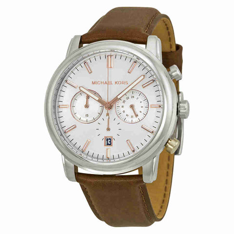 Michael Kors Landaulet Chronograph White Dial Men's Watch MK8372
