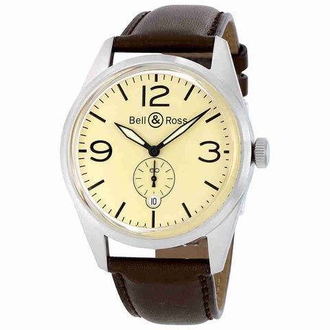 Bell and Ross 123 Automatic Light Mens Watch BLRBR123-ORIG-BG