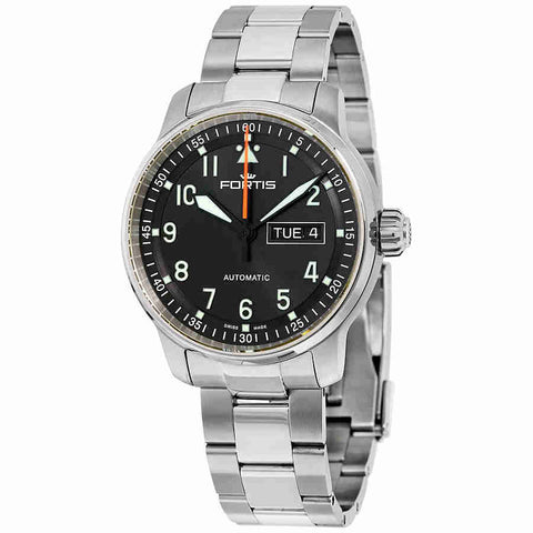 Fortis Flieger Professional Black Day/Date Dial Automatic Mens Watch 704.21.11 M