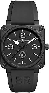 Bell and Ross Aviation Black Dial Limited Edition Automatic Mens Watch BR0192-10TH-CE