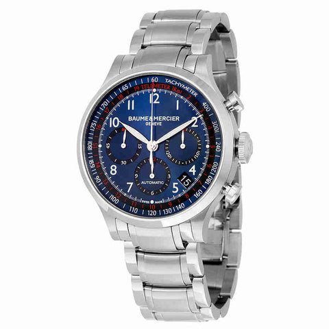 Baume and Mercier Blue Dial Chronograph Mens Watch 10066