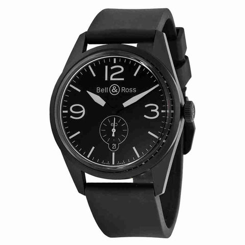 Bell and Ross Automatic Black Dial Mens Watch BRV123-BL-CA-SRB