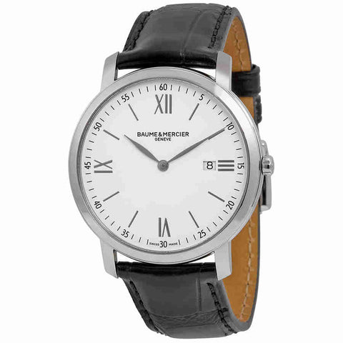 Baume and Mercier Classima Executives White Dial Mens Watch 10097